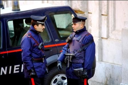 Policiers, Rome, Italie