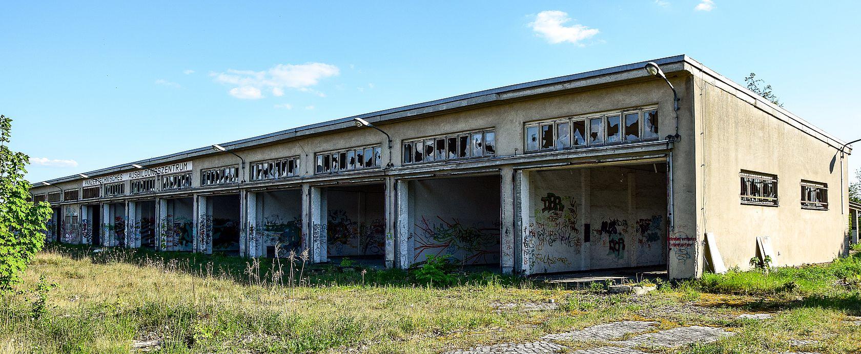 Die Gebäude der Panzerschule