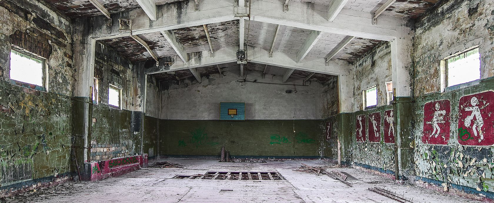 Die marode Halle