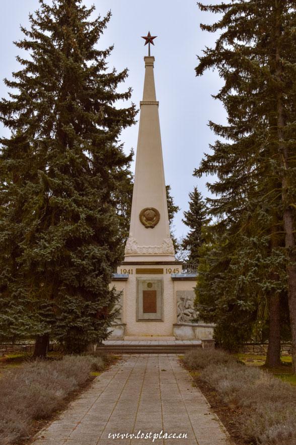 Denkmal auf dem Sowjetischer Ehrenfriedhof