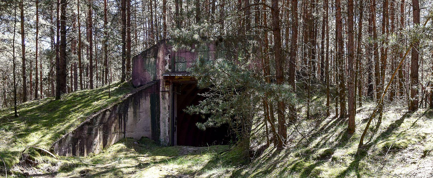DIe Funksendestelle tief im Wald