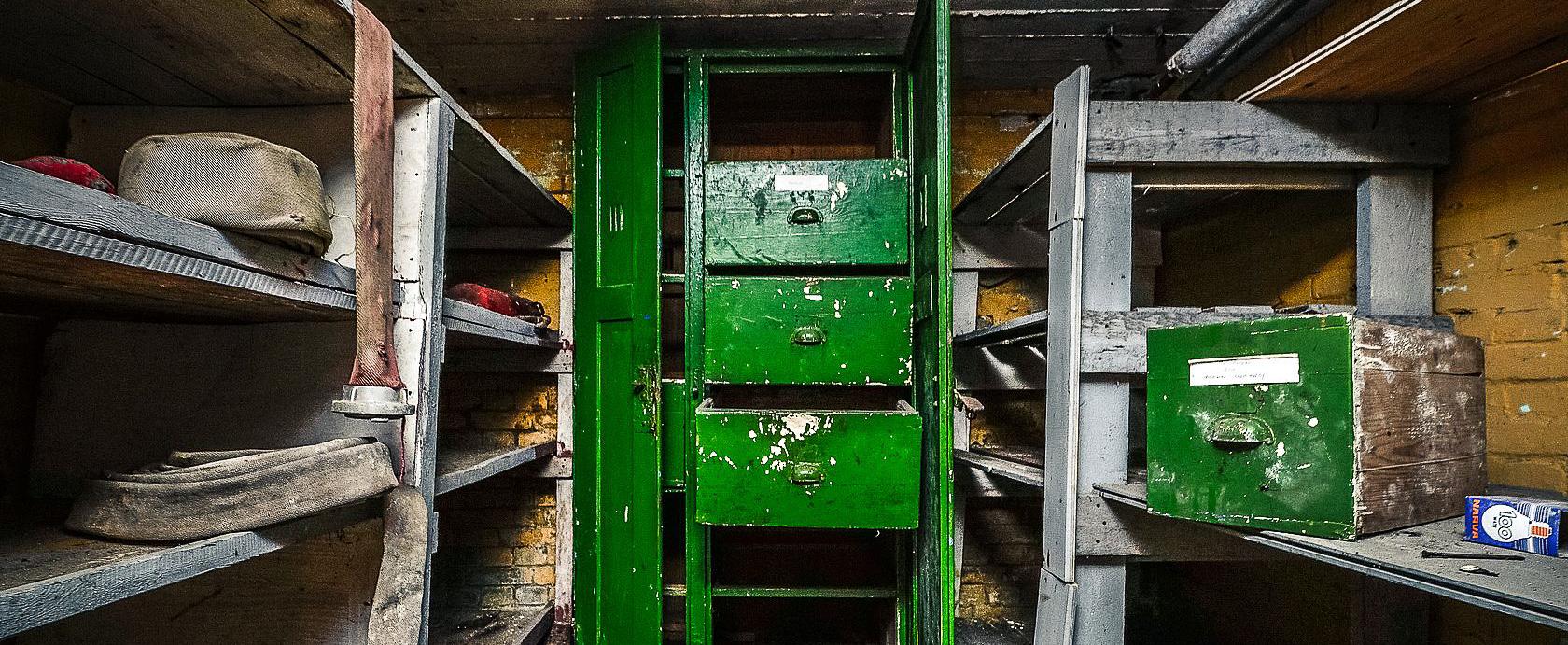 Der Keller einer ehemaligen sowjetischen Kaserne