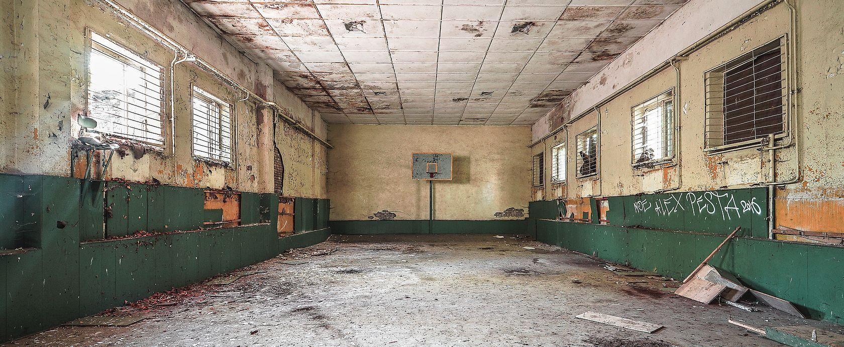 Die marode Turnhalle
