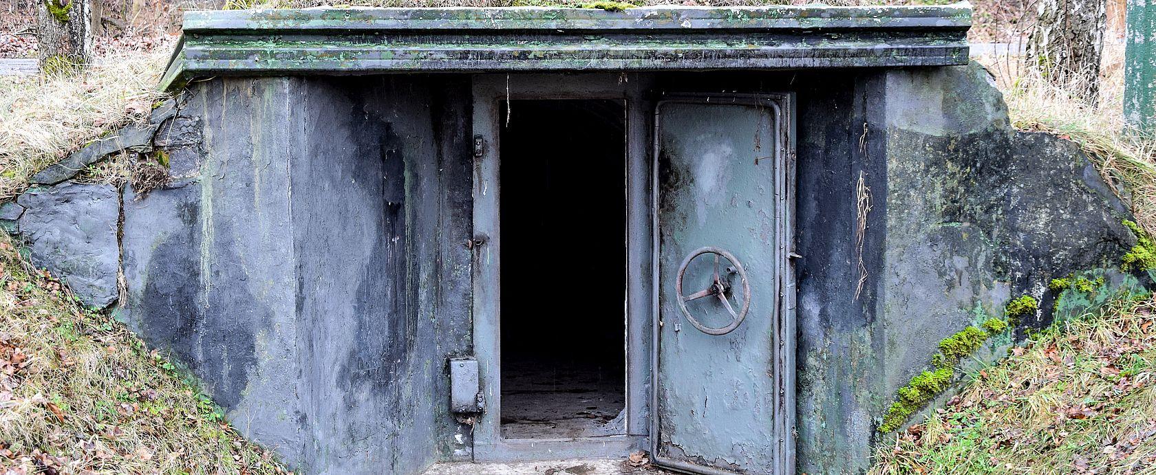Der Bunkereingang