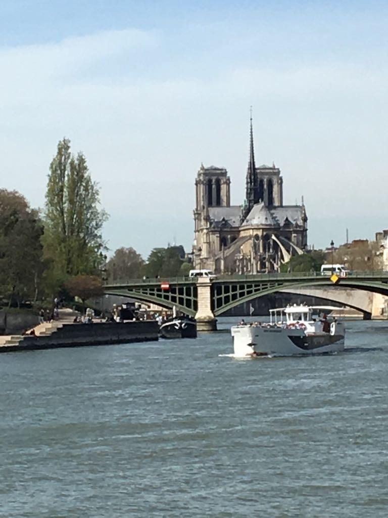 Die Seine mit Notre Dame.