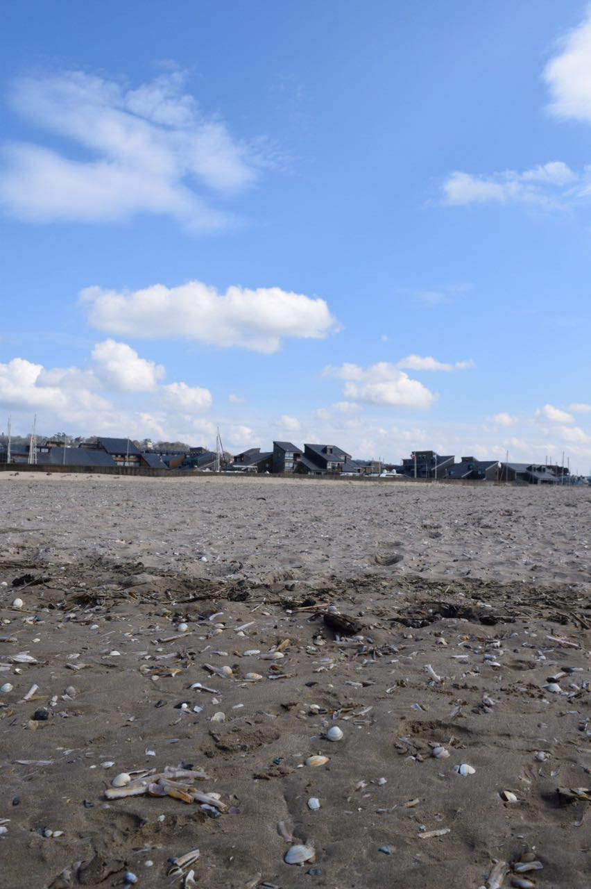 Am Strand in Deauville.
