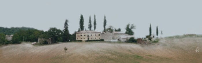 """""""Toscana"""", 2010, Unikat, Druck auf Canvas, 100x31 cm, verkauft"""