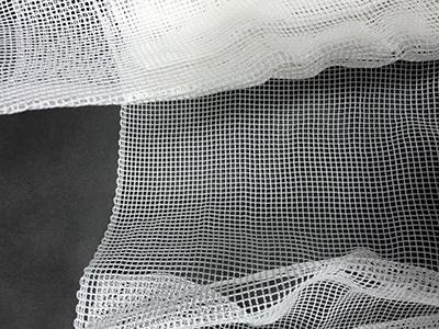 樹脂加工前のモジ網の拡大写真