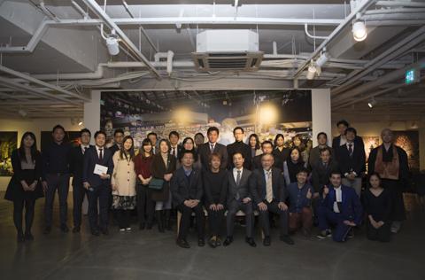 キヤノン韓国の関係者と 写真展オープニング(ソウル)