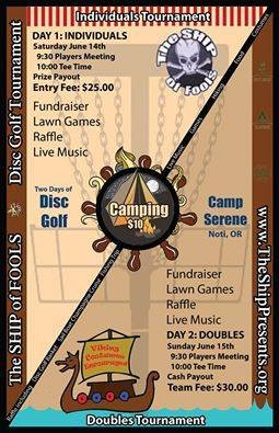 3rd Annual SHIP of Fools Disc Golf Tourney June 14th and 15th