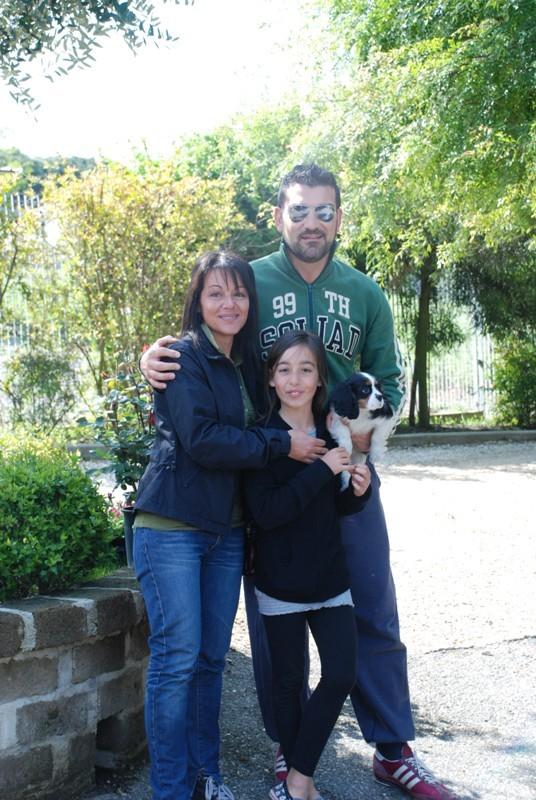 giorno importante...lascio il fantastico papà  Francesco che mi ha cresciuto con tantissimo amore..e vado con la mia nuova famiglia
