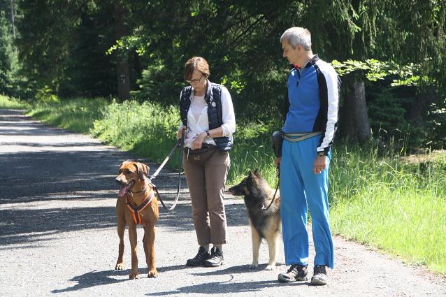 Elvis mit Ute und Hinja mit Rainer