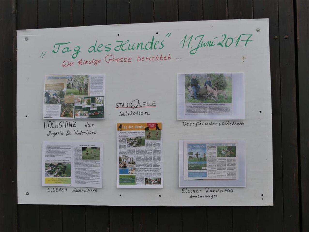 Ankündigungen aus verschiedenen Zeitungen