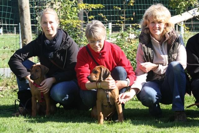 Ria mit Antje, Christina mit Thabo