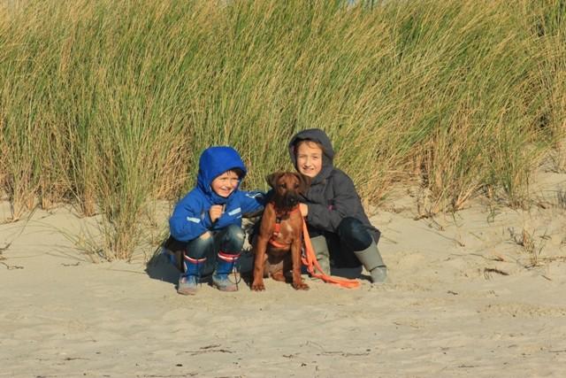 mit Ben und Leni am Strand