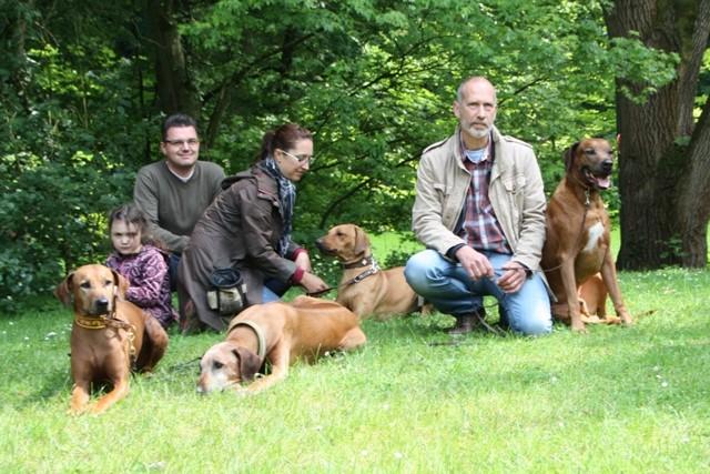 Diara mit Mirja, Jörg und Verena sowie Ernst und Americo