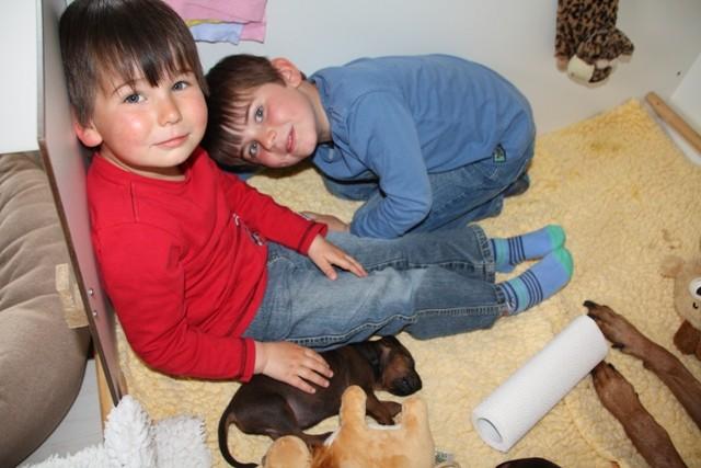 Mein Patenkind Justus und sein Bruder Jasper zu Besuch