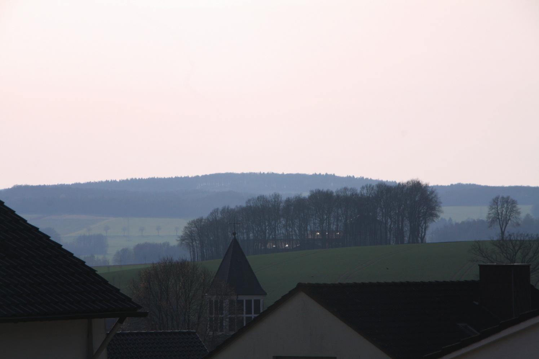 Der Blick über den Dächern von Istrup