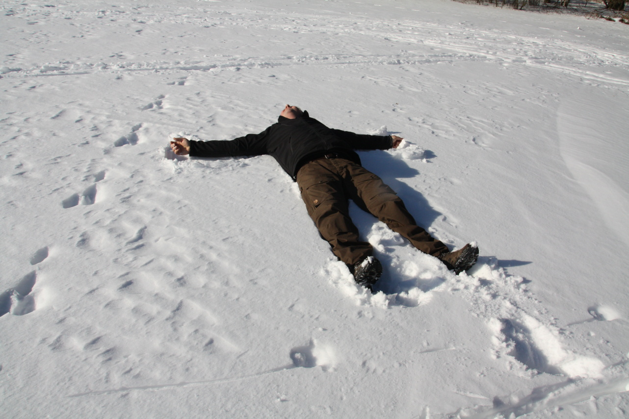 ups, ein Schneeengel
