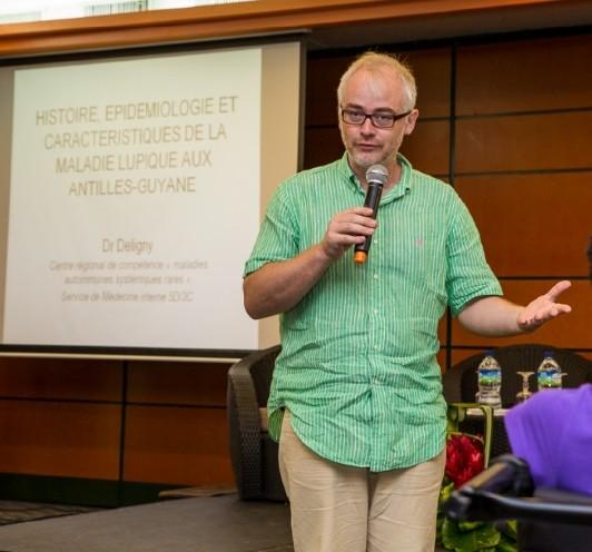 Présentation du lupus par le Professeur Ch. DELIGNY : Approche historique, description de la maladie, situation et prévalence dans la Caraibe