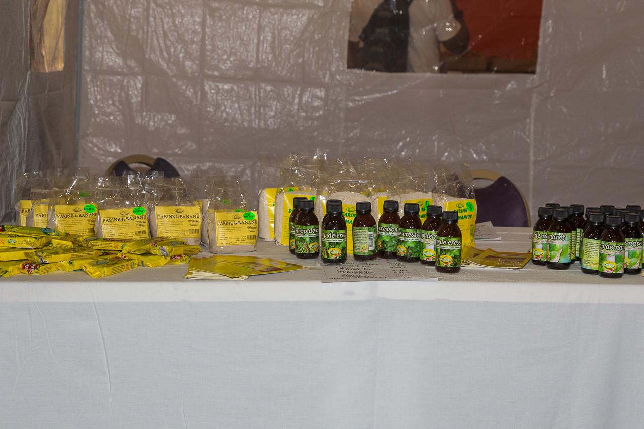 Stand de FARIBA, industrie alimentaire utilisant les produits du terroir martiniquais