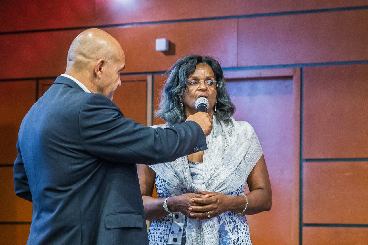 Mme Mérette FORTUNE, présidente de l'Association Martiniquaises des Insuffisants Rénaux (AMIR), présente son association