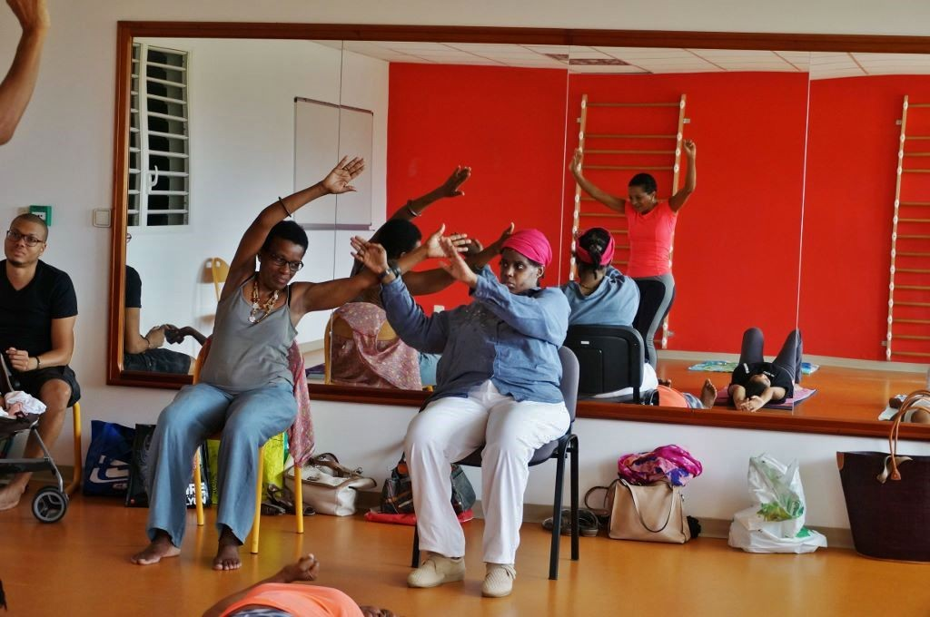 Nous avons aussi découvert la pratique du yoga sur chaise