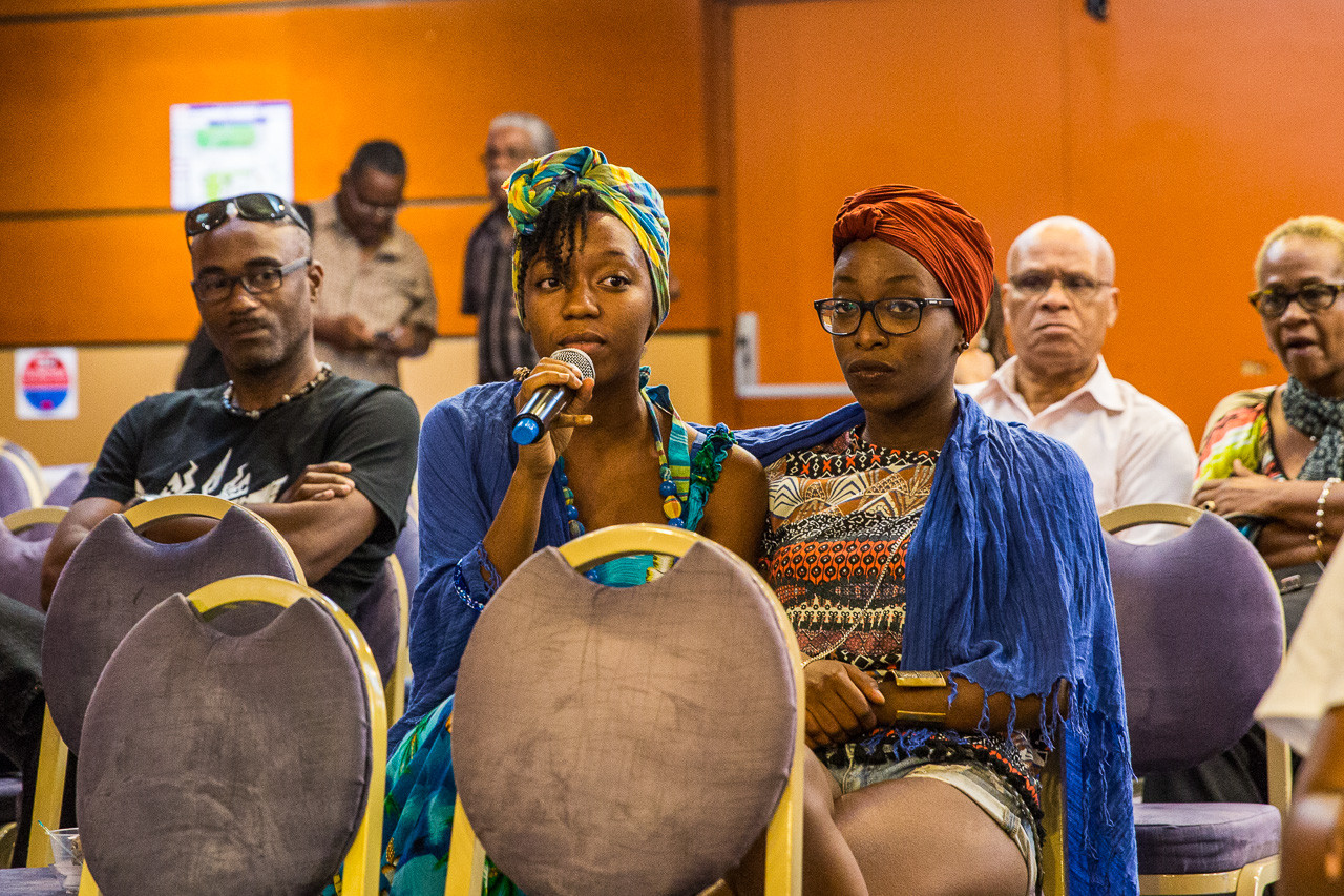 """Parmi le public, des artistes venus soutenir l'assiciations, comme le groupe de gospel """"Kaï-Rin's Voices"""