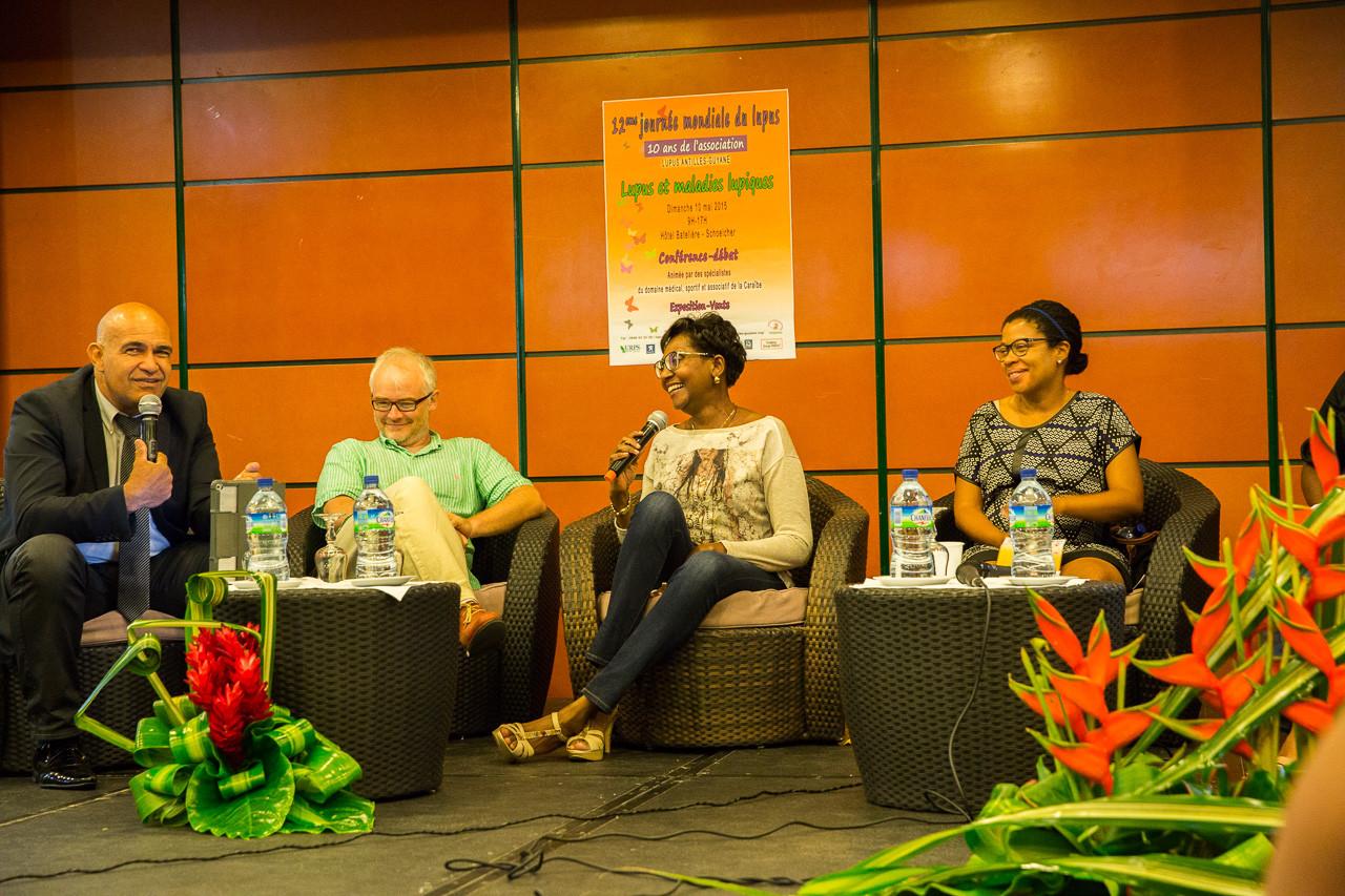 Mme Nicole TRIPOLI, présidente de lupus Guadeloupe présente cette toute nouvelle association