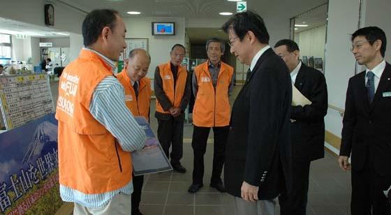 平太さんと語る会にて 川勝静岡県知事からメッセージを頂く
