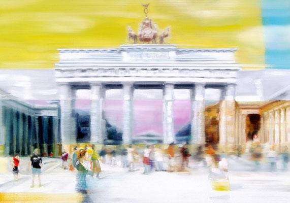 Yellow Gate Berlin, Öl auf Leinwand, 70 x 100cm, 2018