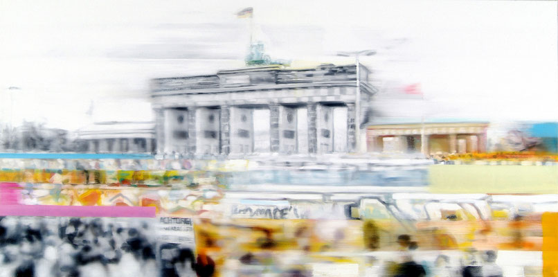 History of Berlin, Öl auf Leinwand, 100 x 200cm, 2018