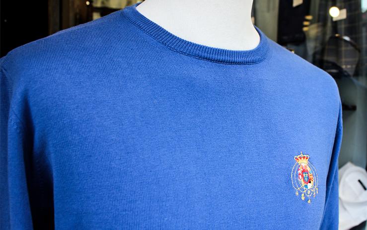 Pullover Cardigan 4 fili in pura lana merinos Brand Argenio Napoli
