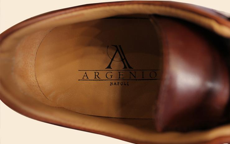 interno scarpa lavorazione Napoletana Brand Argenio Napoli