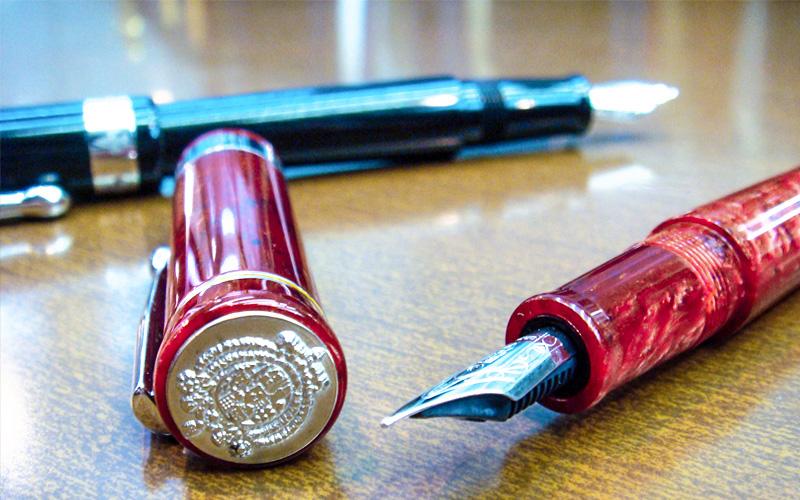 penne Regno due Sicilie in resina con stemma inciso