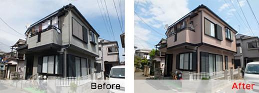 さいたま市で家の塗装の実施例
