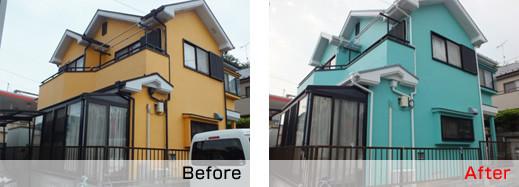 さいたま市で屋根塗装の施工例
