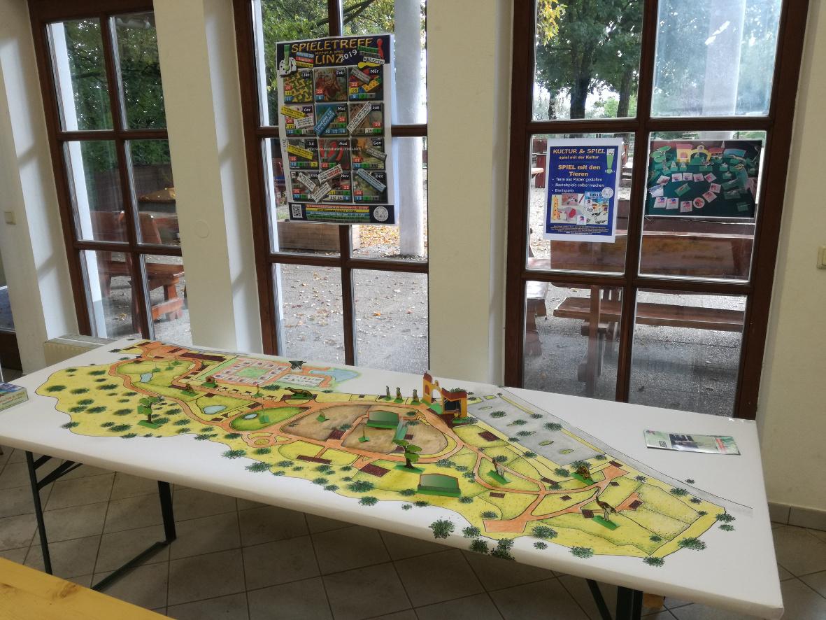 Der riesige Workshop Spielplan für das ZOO LINZ Spiel