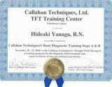 米国TFT協会公認キャラハン       テクニックス診断TFT(DX)セラピスト