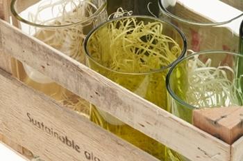 Upcycling Glas aus alten Weinflaschen