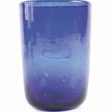 Farbige Gläser mit feinen Blasen - mundgeblasen aus Altglas