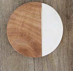 Coaster aus Marmor & Holz