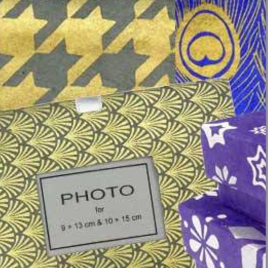 Schenken & helfen - Geschenkpapier, Karten, Geschenkbox, Fotoalbum aus handgeschöpftem Papier