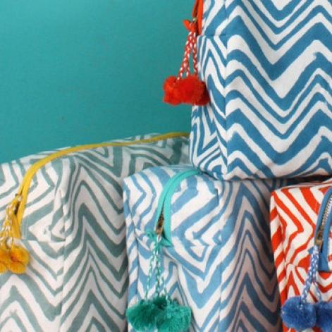 Bunte Kulturtaschen aus Baumwolle - für Kosmetik & Körperpflege