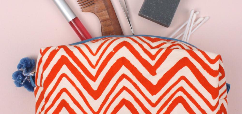 Wenn´s in die Handtasche passen muss - klein und fein im Ikat-Muster