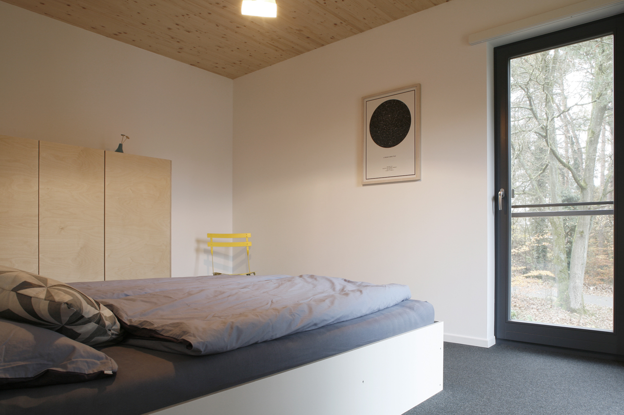 Das Schlafzimmer im Erdgeschoss.