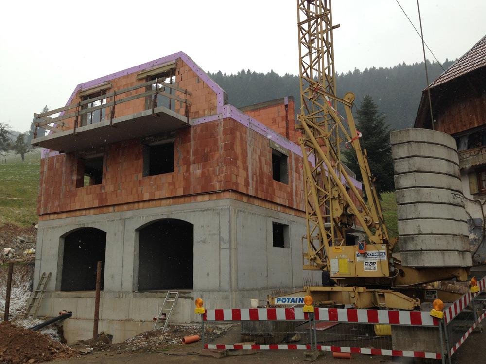 Neubau privates Wohnobjekt in Hofstetten