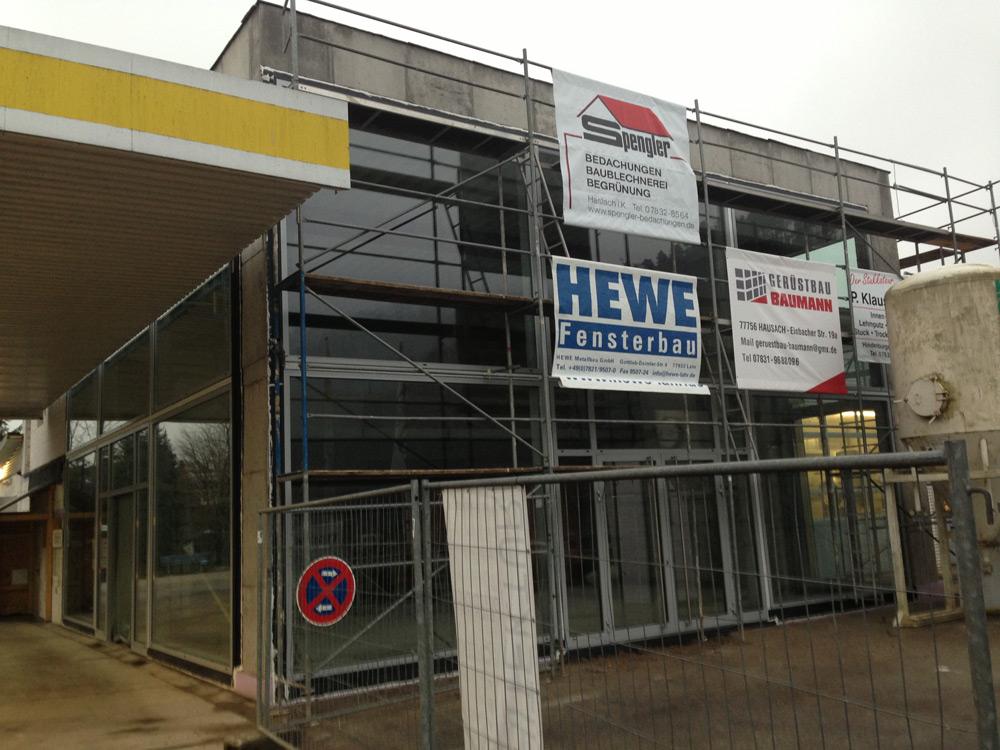 Neubau Ausstellungsbereich Autohaus in Zell