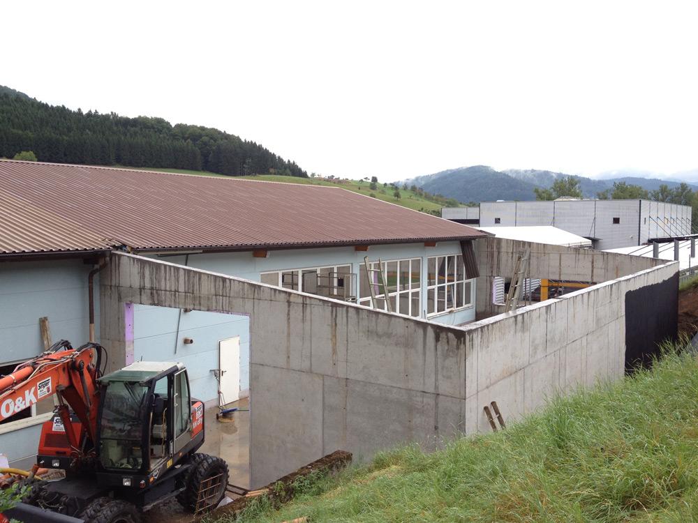 Erweiterung Gewerbebetrieb in Hofstetten, Industriebau