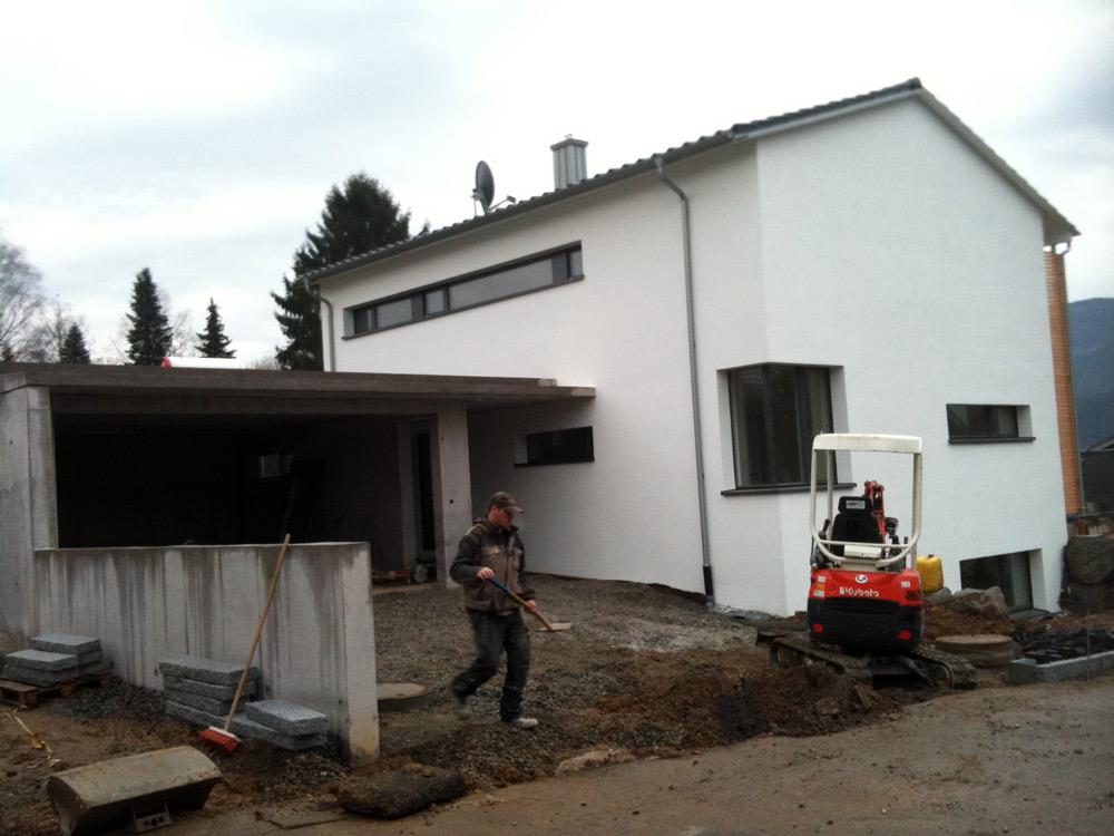Bau Einfamilienhaus mit Garage und Außenanlagen